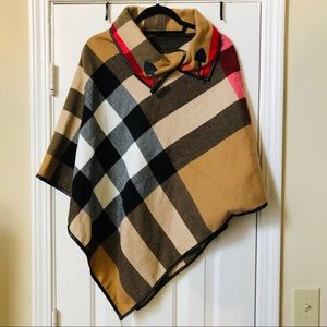 Burberry Pattern Shawl (with arm holes)